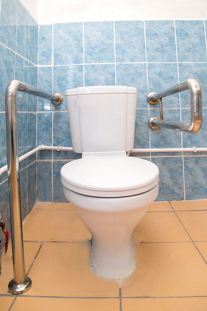 equipped toilet for people with disabilities