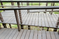 Close up wheelchair ramp in park
